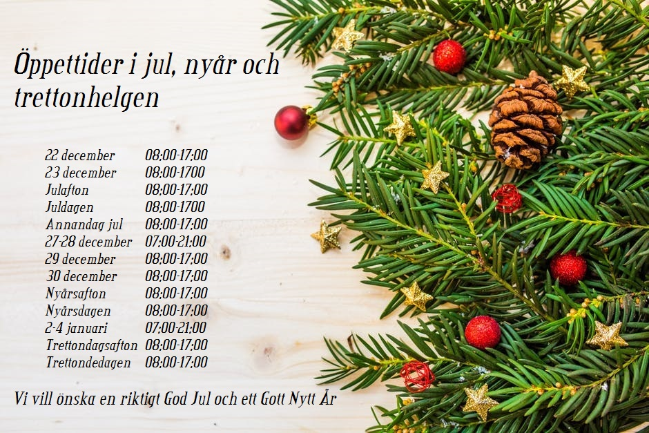 9c9fbf7384d Öppet alla dagar i jul, nyår & trettonhelgen - Blå Stjärnan Borås